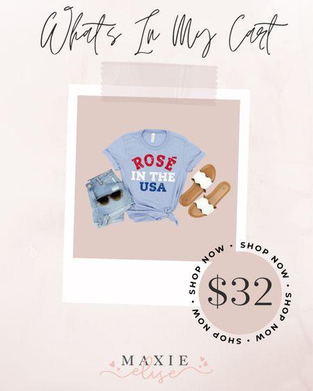 What's In My Cart - Fourth Of July Graphic Tee 🧨  #whatsinmycart #graphictee #summeroutfits #fourthofjuly #fourthofjulyoutfit  #etsyfinds #etsy  #LTKunder50 #LTKstyletip #LTKSeasonal