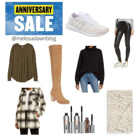 Nordstrom anniversary sale picks  Spanx leggings, free people Henley, over the knee boots, barefoot dreams, benefit mascara, adidas leopard, Shacket http://liketk.it/3jDkf #liketkit @liketoknow.it #LTKsalealert #LTKshoecrush #LTKunder50