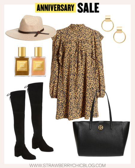 This could be a fun date night look or a workwear look without the hat. Pair this leopard dress with a Tory Burch black tote.   #LTKitbag #LTKstyletip #LTKworkwear