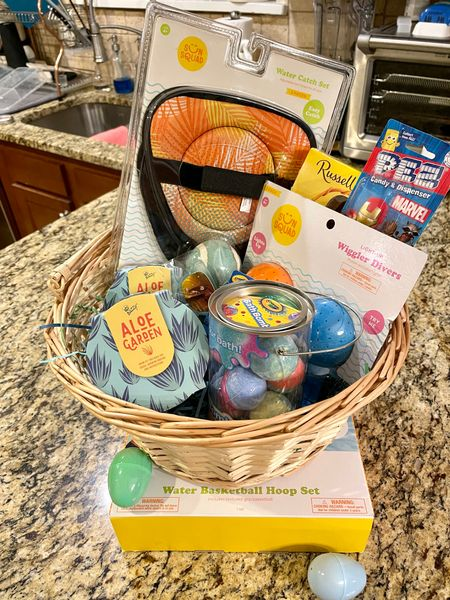 Spoiled Little Man with a summer & outdoor themed Easter basket. Water toys, outdoor games, his favorite bath bombs and his own plants (he's become obsessed with wanting his own). Plenty of goodies from the 🐰 to help keep him busy!   #LTKunder50 #LTKkids #LTKSeasonal