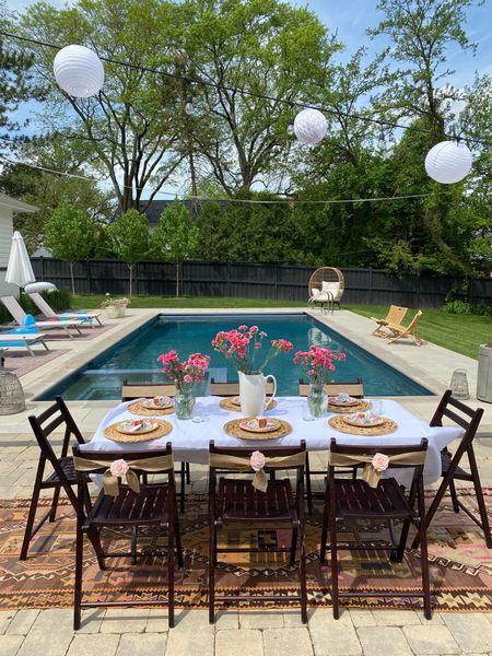 Outdoor party decor pool poolside #ltkseasonal #ltkcompetition  http://liketk.it/3fVh8 #liketkit @liketoknow.it #LTKhome #LTKsalealert #LTKunder100   You can instantly shop my looks by following me on the LIKEtoKNOW.it shopping app