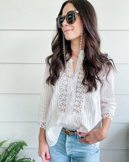 The pettiest breezy white blouse for summer! Wearing a size small! http://liketk.it/3gglY #liketkit @liketoknow.it #amazonfashion