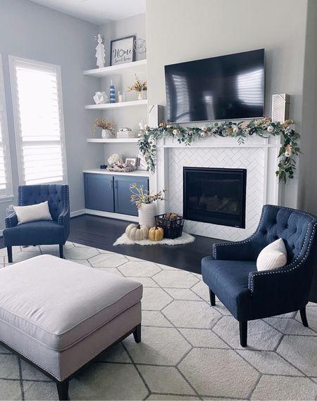 Fall decorations home decor living room rug furniture   #LTKunder100 #LTKhome #LTKSeasonal