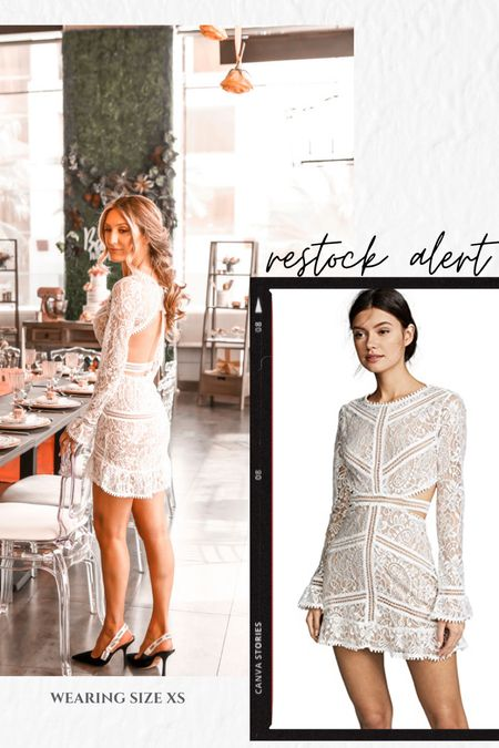 Bridal shower dress (size XS)  Restock alert  Bride to be  White dress  Summer dress Lace dress Bachelorette party dress   See all the details about my bridal shower on the blog DRLUXY.COM     #LTKwedding #LTKstyletip #LTKSeasonal