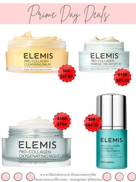 Amazon prime day deals - Elemis pro-collagen cleansing balm, pro-collagen marine cream spf 30, pro-collagen oxygenating night cream, pro-collagen advanced eye treatment, skincare, beauty products, amazon finds    http://liketk.it/3i7fW #liketkit @liketoknow.it #LTKsalealert #LTKunder100 #LTKbeauty