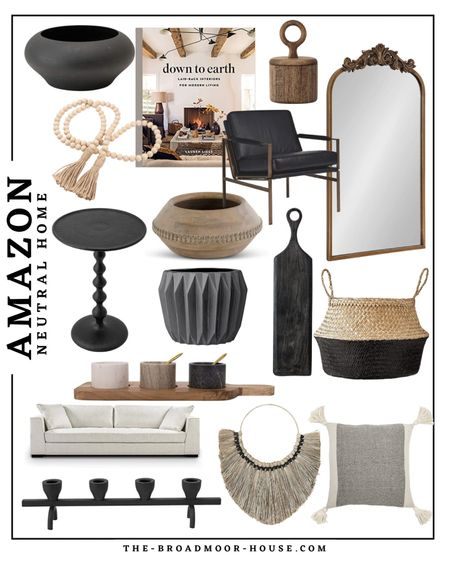 Amazon home, neutral home, Amazon Finds, Amazon fashion, Amazon furniture, neutral furniture, living room furniture, living room Decor, wall mirror, candle holder, pillows, kitchen Decor, coffee table book, side chair, accent chair, wood Decor, black furniture, side table, vase, beads, wall art, basket, cutting board, serving board, cheese tray, pinch jars, white home, neutral Decor, BoHo, farmhouse  #LTKstyletip #LTKunder100 #LTKhome