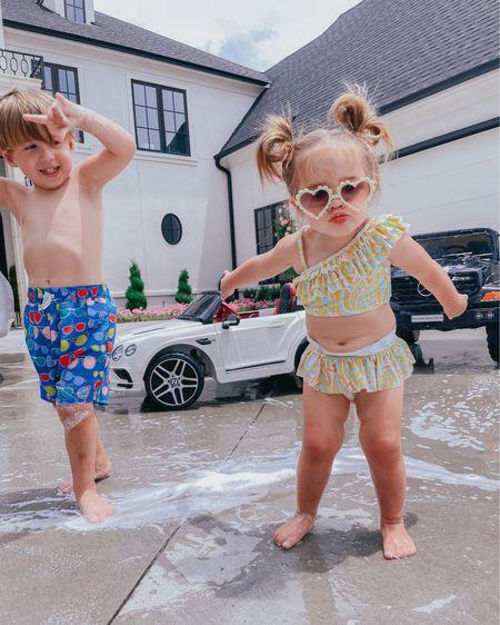 http://liketk.it/3gZg3 #liketkit @liketoknow.it #LTKfamily #LTKkids #LTKswim beach vacation outfits, summer outfits, bathing suits, kids bathing suits, Emily Ann Gemma
