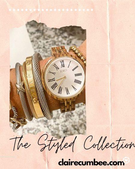 LTK day sale Bracelet  Bangle Gold wrist Yurman dupe The styled collection  Style Sale Wrist Bracelet stack Jewelry  Gift   #LTKsalealert #LTKworkwear #LTKDay