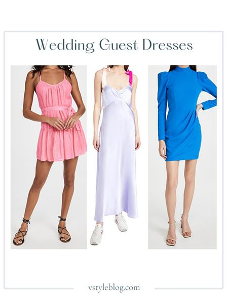 Wedding Guest Dresses, Maxi Dress, Summer Dress, Mini Dress  Sundress Short Lotus Dress ($140), Dannijo Dress with Bow Tie Straps ($475), Black Halo Santorini Mini Dress ($375)  #LTKSeasonal #LTKwedding #LTKfit