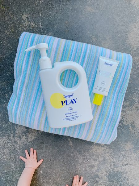Our new favorite sunscreen with clean and natural ingredients!   I love Supergoop Play for the kids, and the pumps makes it incredibly easy. I also love their Unseen Sunscreen for my face. It feels so soft and works great as a primer too!  Amazon finds, swim, swimwear, pool, beach vacation, outdoors  #LTKkids #LTKfamily #LTKswim