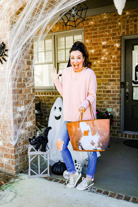 Halloween front porch decorations 🎃🖤 My jeans are currently on sale for only $49! Plus use code HEATHER20 for 20% off my necklace!   #LTKstyletip #LTKhome #LTKHoliday