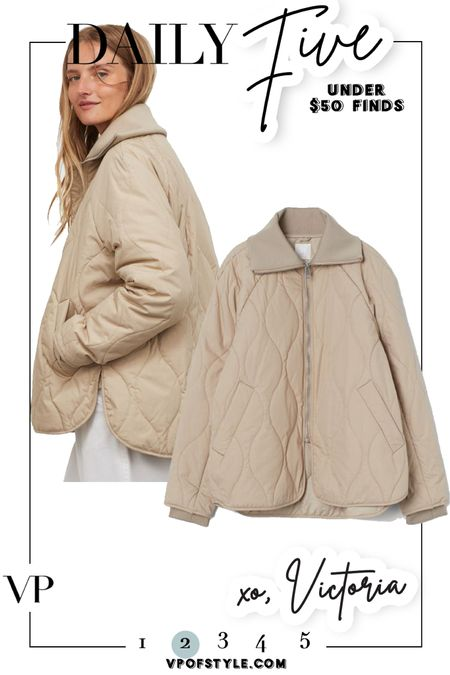 This quilted jacket is the cutest and just $49! http://liketk.it/2WhVu #liketkit @liketoknow.it #LTKunder50 #LTKstyletip #ltkfall #LTKunder100