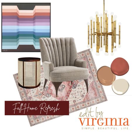 If you're going for that all-white look - I'm probably not your gal.  I love, LOVE cozy neutrals but I'm also really into warm metallics, pattern play, lots of layers, and…COLOR 🧡 ☺️ Doesn't this space radiate warmth and well-being?  And (almost) everything featured on this board is on sale right now over at @bellacor - including this fabulous Jonathan Adler chandelier!  Save up to an extra 20% off select items with promo code AFF20OCT.  Run, don't walk!  I've got it all linked up for 'ya.  And of course I had to throw in a painting from the amazing @ginajulian because I am totally obsessing over her work (thanks, I think 🤣 to my uber-stylish client, @ewliddy, for the intro!).  Cheers to a fall home refresh!    #editbyvirginia #tallahasseeblogger #discoverunder10K #tallahasseeinteriordesign http://liketk.it/2ZnjF #liketkit @liketoknow.it