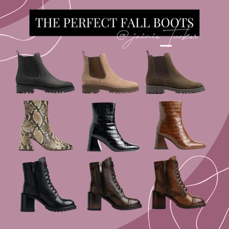 The perfect boots to rock this fall and winter! | #fallboots #womensboots #combatboots #chelseaboots #bestsellers #heeledboots #booties #ankleboots #bestsellers #fallfootwear #JaimieTucker  #LTKshoecrush #LTKstyletip