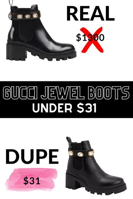 Gucci boots look alikes    #LTKshoecrush #LTKunder50 #LTKunder100