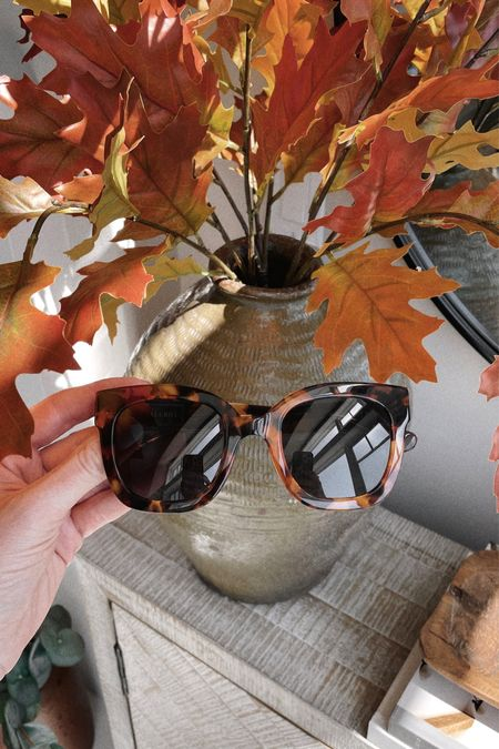 The prettiest glossy tortoise sunglasses for fall 😎 Frames are oversized and can be adjusted by gently bending the ear bar for a custom fit. Use code NICHOLEC for free shipping (and a free mug!).  #LTKstyletip #LTKSeasonal