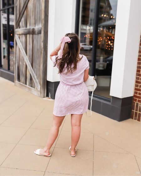 Feminine details on make for effortless summer outfits! Casual chic summer look under $100! Affordable outfit // Target finds // hair scrunchie with bow.     #LTKstyletip #LTKunder50 #LTKSeasonal