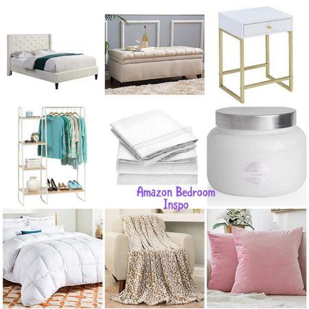 Master bedroom. Bedroom decor. Amazon home finds. Home decor. Amazon prime. Ottoman. Nightstand. Garment rack.   #LTKunder50 #LTKhome #LTKunder100