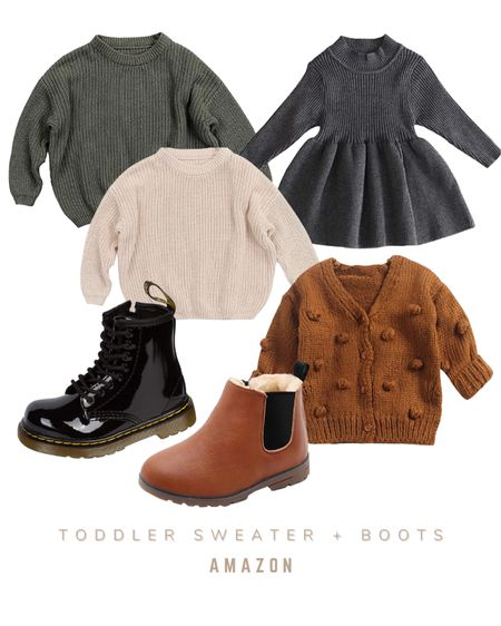 Toddler girl sweaters and boots for the fall season   #LTKSeasonal #LTKkids #LTKbaby