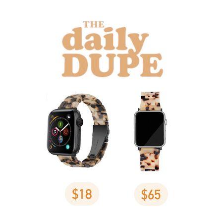 Tortoise Apple Watch Band, Save vs Splurge, Daily Dupe  #LTKGiftGuide