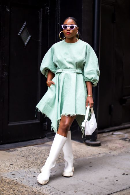 Day 4 of #NYFW and I'm heading to film a video with my boos @highlowluxxe and @karenbritchick all about the Business Side of Influencing. Afterwards I'm heading to a few fashion shows!   Wearing: @marquesalmeida dress @gia boots @prada bag @andotherstories sunnies  Shop the look by clicking the link in my bio and heading to the Shop My Instagram tab or here: on my @shop.ltk profile!   Drop any questions you have for us in the comments!