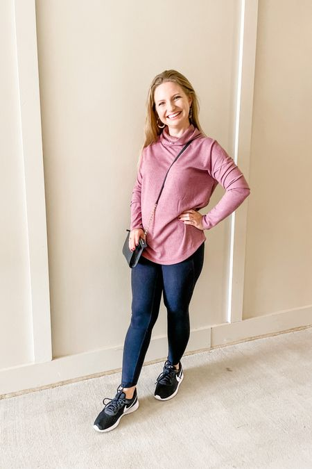 Best $18 I've spent in a long time! This super comfy pullover works great with leggings or jeans and seriously feels so good on. Sized up to a S to wear comfortably with leggings.   #LTKstyletip #LTKfit #LTKunder50
