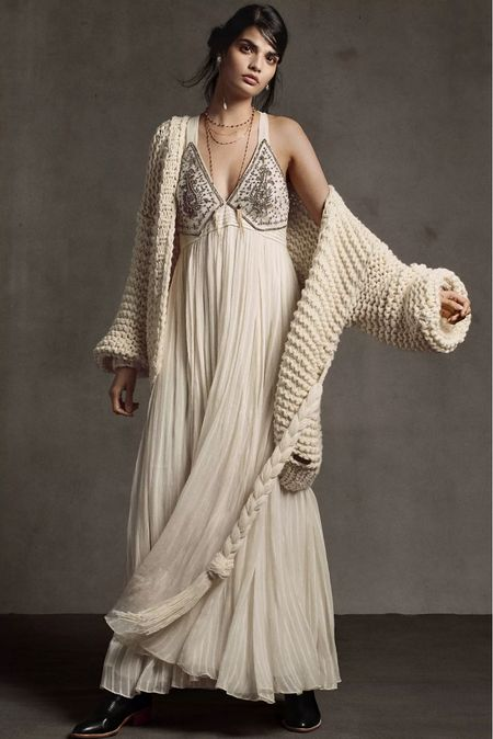 This whole look though😍 Anthropologie really coming through with looks this season🍂✨ #cozy #cozyseason #cardigan #knit #handknit #maxidress #falloutfit #ivory   #LTKSale #LTKHoliday #LTKSeasonal