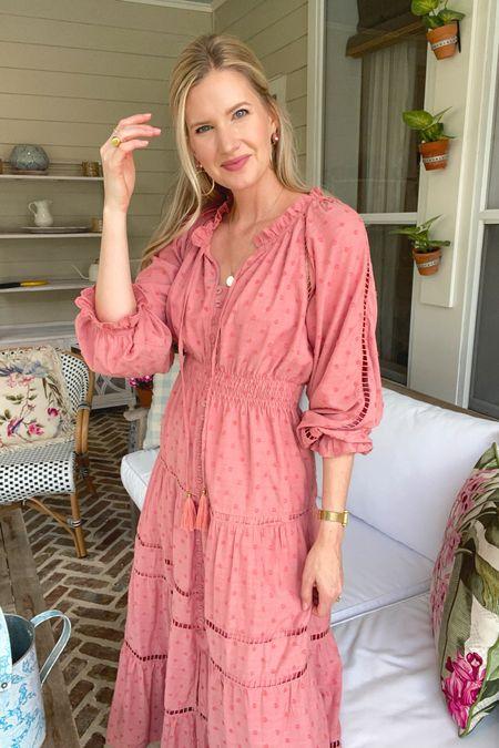 Similar pink fall maxi dresses!
