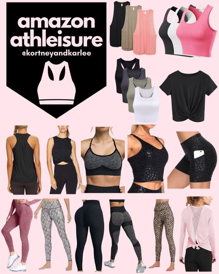 Amazon Athleisure!  Amazon fitness | amazon fitness equipment | fitness lover | amazon fitness finds | amazon fitness favorites | amazon workout clothes | amazon workout tank | amazon leggings | amazon sports bra |amazon workout finds | fitness junkie | amazon athletic finds | amazon athletic wear | Kortney and Karlee | #kortneyandkarlee #LTKunder50 #LTKunder100 #LTKsalealert #LTKstyletip #LTKSeasonal #LTKfit #LTKhome @liketoknow.it #liketkit http://liketk.it/3hM4r