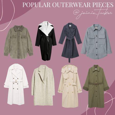 Popular Outerwear Pieces for the Fall and Winter. | #falloutfits #workwear #workoutfit #bestsellers #falljackets #trenchcoats #shackets #shirtjackets #denimjacket #womensjackets #womenscoats #JaimieTucker  #LTKSeasonal #LTKworkwear #LTKstyletip