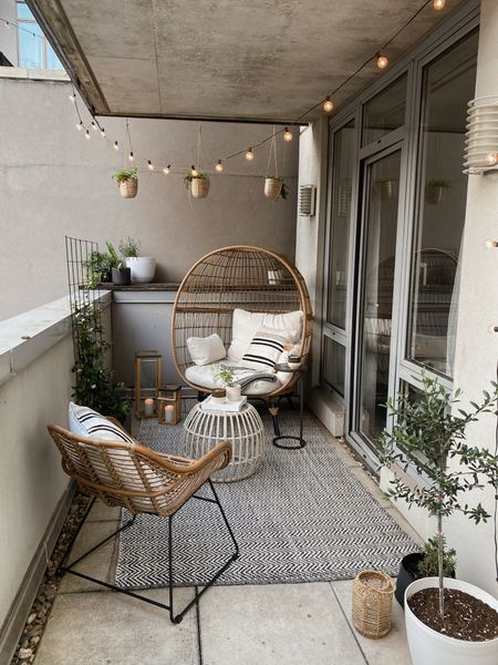 Small Outdoor balcony set up for city living   #LTKhome