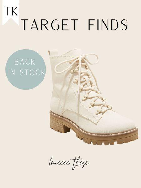 Combat boots / target find / target finds / cream boots / mountain outfit   #LTKstyletip #LTKunder50 #LTKshoecrush