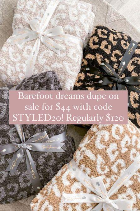 Barefoot dreams blanket dupe on sale for $44! Regularly $120 (code STYLED20)  #LTKsalealert #LTKhome