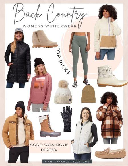 Backcountry favorites for the cold weather months! Use SARAHJOY15 for 15% off    #LTKGiftGuide #LTKsalealert #LTKSeasonal