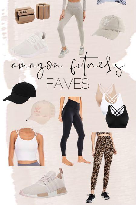 Amazon fitness finds // amazon find // workout // tank // leggings // sneaker // hat // gym // http://liketk.it/3hWMN @liketoknow.it #liketkit #LTKfit #LTKunder50 #LTKstyletip