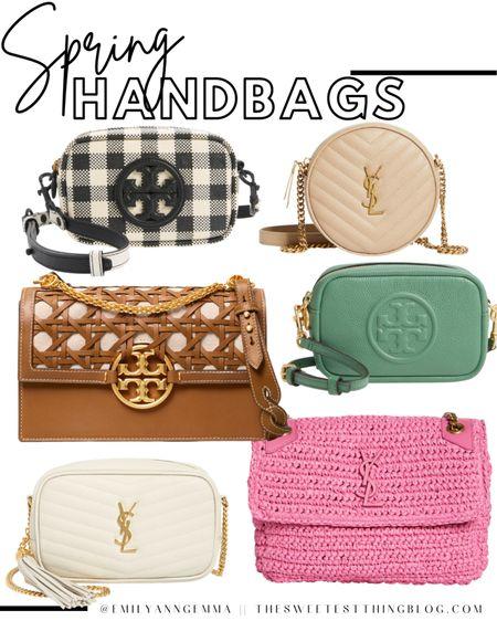 Spring Handbags, Best Spring Purses, Purse Inspiration 2021, Summer Handbags, Crossbody Bag, Straw Bag, Saint Laurent Handbag, Gingham Purse, Emily Ann Gemma http://liketk.it/3eCsc #liketkit @liketoknow.it