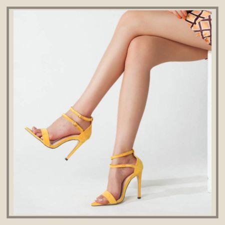 Pointed toe buckle decor heeled sandals   #LTKunder50 #LTKstyletip #LTKshoecrush