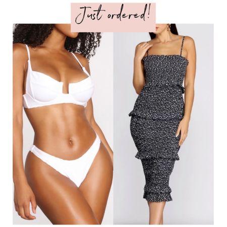 Just ordered new white bikini and ruffle dress! http://liketk.it/2LO36 #liketkit @liketoknow.it #LTKstyletip #LTKunder50 #LTKswim