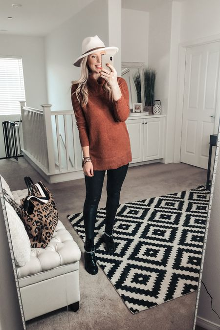 Omg love this fall outfit ❤️ pumpkin tunic sweater is super soft and great with leggings! Comes in several colors! Wearing a medium   http://liketk.it/2XWqR #liketkit @liketoknow.it #LTKunder50 #LTKstyletip #LTKsalealert