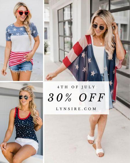 Select patriotic items are 30% off! Tees, tanks, blouses, swimsuits, and more 🇺🇸   #LTKunder50 #LTKsalealert #LTKSeasonal