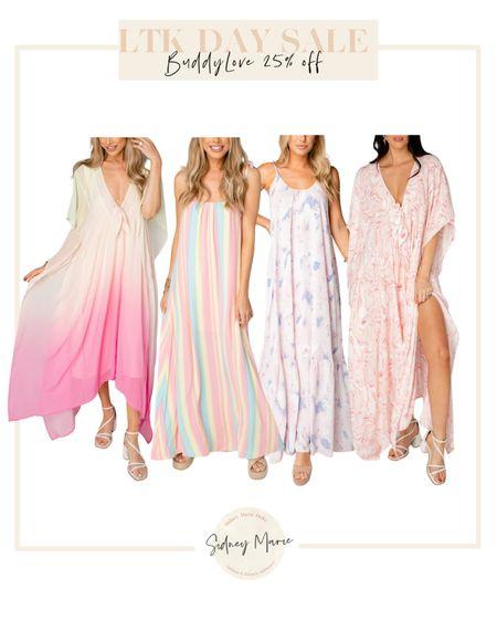 BuddyLove maxi dresses on sale for LTK day sale @liketoknow.it http://liketk.it/3hiN7 #liketkit #LTKDay #LTKsalealert #LTKunder100  Vacation dresses Pink tie dye dress Caftan