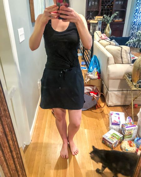 Today's workout outfit. I love this athleisure skirt. It elevates my running around town stay at home mom look. http://liketk.it/3id8t #liketkit @liketoknow.it