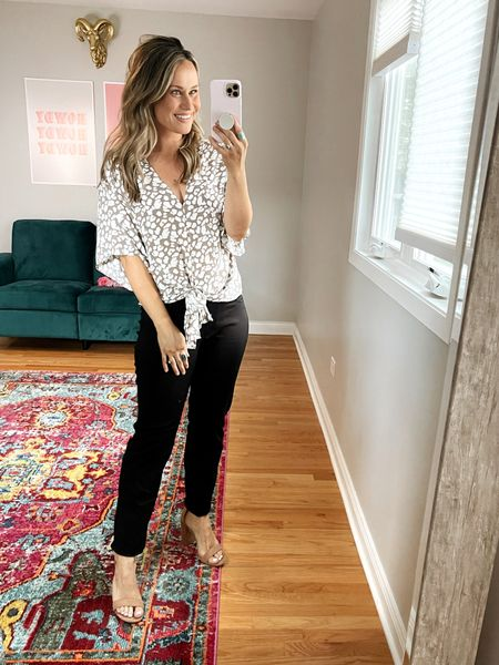 office outfits from amazon: this top is cute for work but also a great option to wear with jeans, these comfy pants are perfect work pants and I linked my nude heels.   #LTKworkwear #LTKunder50 #LTKshoecrush