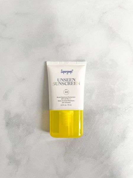 Loving this face sunscreen by Supergoop! So lightweight, unscented, and perfect for putting on under makeup.   #LTKbeauty #LTKunder50