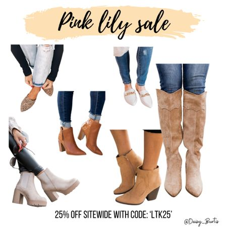 25% off SITEWIDE @PinkLily !!! So so many darling boots & booties for Fall!!   All 25% off with code: 'LTK25'    #LTKunder50 #LTKSale #LTKshoecrush