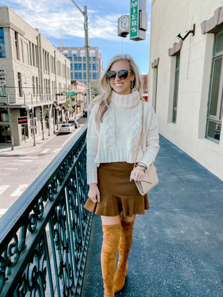 Had the best girls day!!! Loving this look with the skirt + OTK boots    Shop your screenshot of this pic with the LIKEtoKNOW.it shopping app http://liketk.it/33ilP @liketoknow.it #liketkit #LTKshoecrush #LTKtravel #LTKstyletip