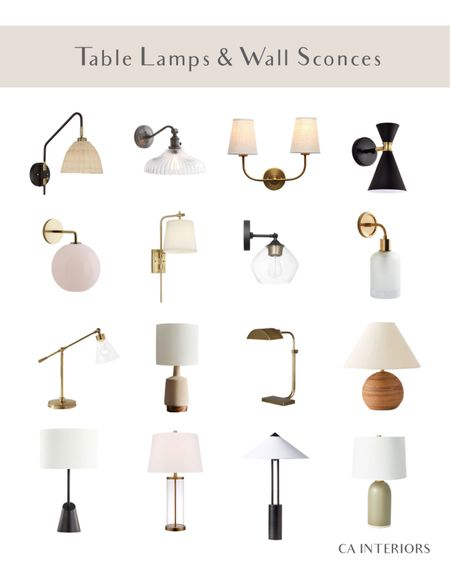 A table lamp and wall sconces round-up for you! So many options for all budgets and styles   #LTKfamily #LTKhome