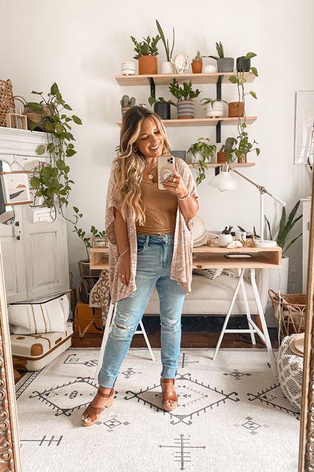 Petite curvy denim jeans ~  paired with a poncho cardigan!! Wearing size 6 short in jeans + medium in top. #maurices #petitestyle #peiteblogger  #denimstyle  #liketkit #LTKstyletip #LTKsalealert #LTKunder50