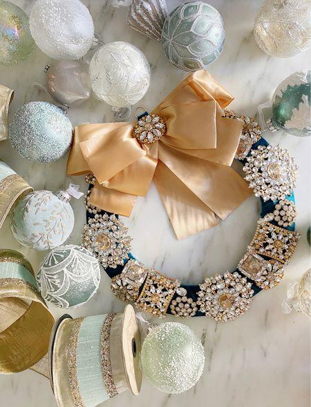 My favorite Christmas ornaments and ribbon!   #LTKhome #LTKHoliday #LTKSeasonal