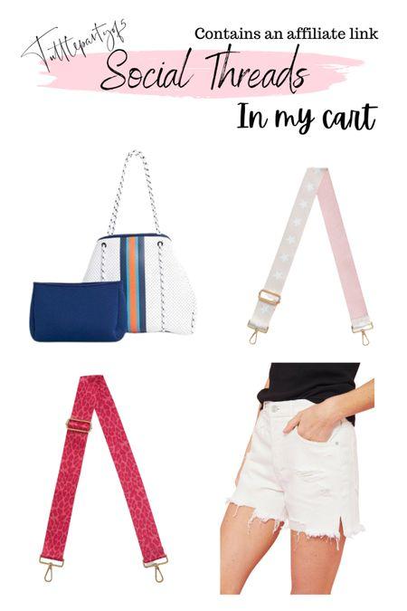 These bag straps are so cute!!! Love this neoprene beach tote   Free people denim shorts   #liketkit http://liketk.it/3ighq @liketoknow.it #LTKstyletip #LTKitbag #LTKunder100